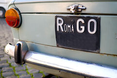 Go Roma. Stylish car in the street of Roma with RomaGo Stock Photography