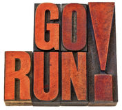 Go run motivation banner Stock Photography