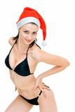 Go with santa girl Royalty Free Stock Photography