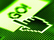 Go screen Stock Image