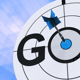 Go Shows To Start Race Action Now Royalty Free Stock Photography