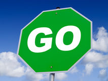 Go Sign. A close up on a GO sign Stock Image