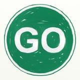 Go sign stock illustration