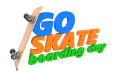 Go skateboarding day concept Stock Images