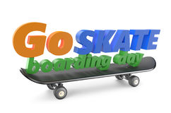 Go skateboarding day 21 june concept Stock Photos