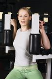 Go in for sport in the gym Royalty Free Stock Photo