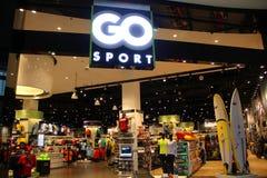 GO Sports Retail Outlet. In Dubai Mall, Dubai, United Arab Emirates royalty free stock photography