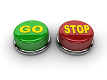 Go stop buttons. Stock Photo