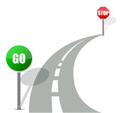 Go and stop road Stock Photography