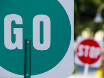 Go and stop sign Stock Photos