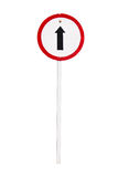 Go straight direction traffic sign isolated Stock Photo