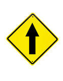 Go straight traffic sign Stock Photos