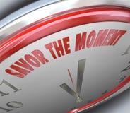 Goût d'horloge la mémoire passagère de temps de mots de moment Image stock