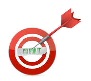 Go for it target and dart illustration design Stock Photos