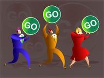 Go team Royalty Free Stock Image