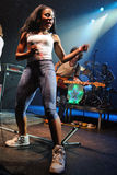 The Go! Team (band) performs at Razzmatazz Club Stock Photos