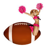 Go Team Cheerleader Royalty Free Stock Photo