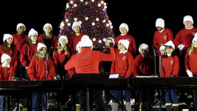 Go Tell it on the Mountain. Video of school choir at the ellipse in washington dc on 12/11/13 during christmas. These children are from a school in delaware and stock video footage