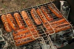 Goûtez les saucisses photo libre de droits