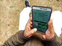go to cash personal loan app on mobile phone screen in india Dec 2019