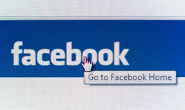 Go to Facebook Home Page Stock Photography