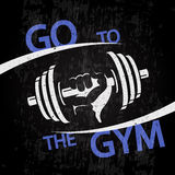 Go to the gym banner Stock Images