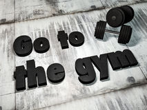 Go to the gym stock photography