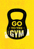 Go To The Gym. Sport And Fitness Creative Motivation Vector Design Banner Concept On Grunge Background Royalty Free Stock Photo