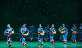 Go to the market-Chinese folk dance Royalty Free Stock Photos