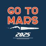 Go to Mars vector cartoon poster Stock Photography