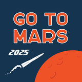 Go to Mars vector cartoon poster Royalty Free Stock Image