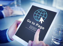 Go To Page Enter Button Interface Concept Stock Photo