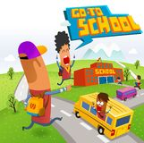 Go to School. After holiday Stock Images