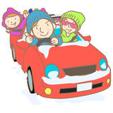 Go to ski illustration Royalty Free Stock Images
