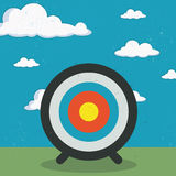 Go to the target. Vector illustration of a target over blue sky royalty free illustration