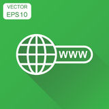 Go to web icon. Business concept network internet search pictogr Stock Image