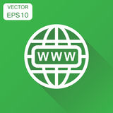 Go to web icon. Business concept network internet search pictogr Stock Images