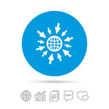 Go to Web icon. Globe with mouse cursors. Royalty Free Stock Photography