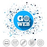 Go to Web icon. Internet access symbol. Royalty Free Stock Photos