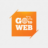 Go to Web icon. Internet access symbol. Stock Image