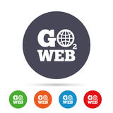 Go to Web icon. Internet access symbol. Stock Photos