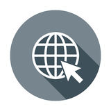 Go to web icon. Internet flat vector illustration for website on Stock Photography
