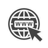 Go to web icon. Internet flat vector illustration for website on Royalty Free Stock Photography
