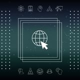Go to web, internet icon. Signs and symbols - graphic elements for your design Stock Images