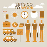 Go to work infographic vector Stock Photography