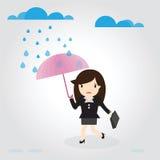 Go to work in rain Stock Photos