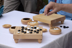 Go. Traditional chinese or japanese strategy board game Stock Image