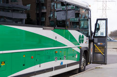 Go Transit or Bus in Toronto Stock Images