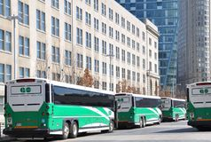 Go transit buses. Parked near the Union station Royalty Free Stock Photo
