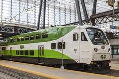 Go Transit train in Toronto, Canada royalty free stock photography